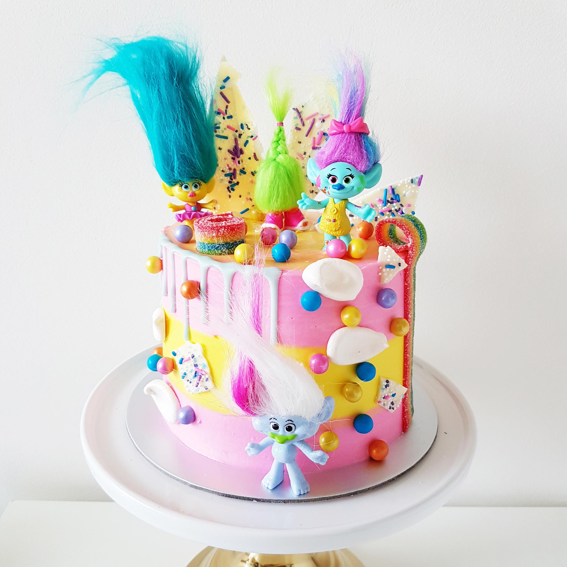 Trolls Candyland Cake