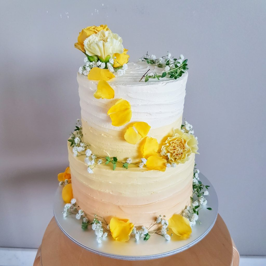 Rustic Floral Two Tier Cake