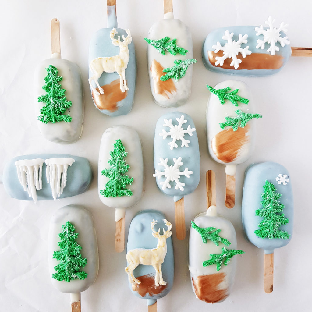 Winter Wonderland Cake Pops