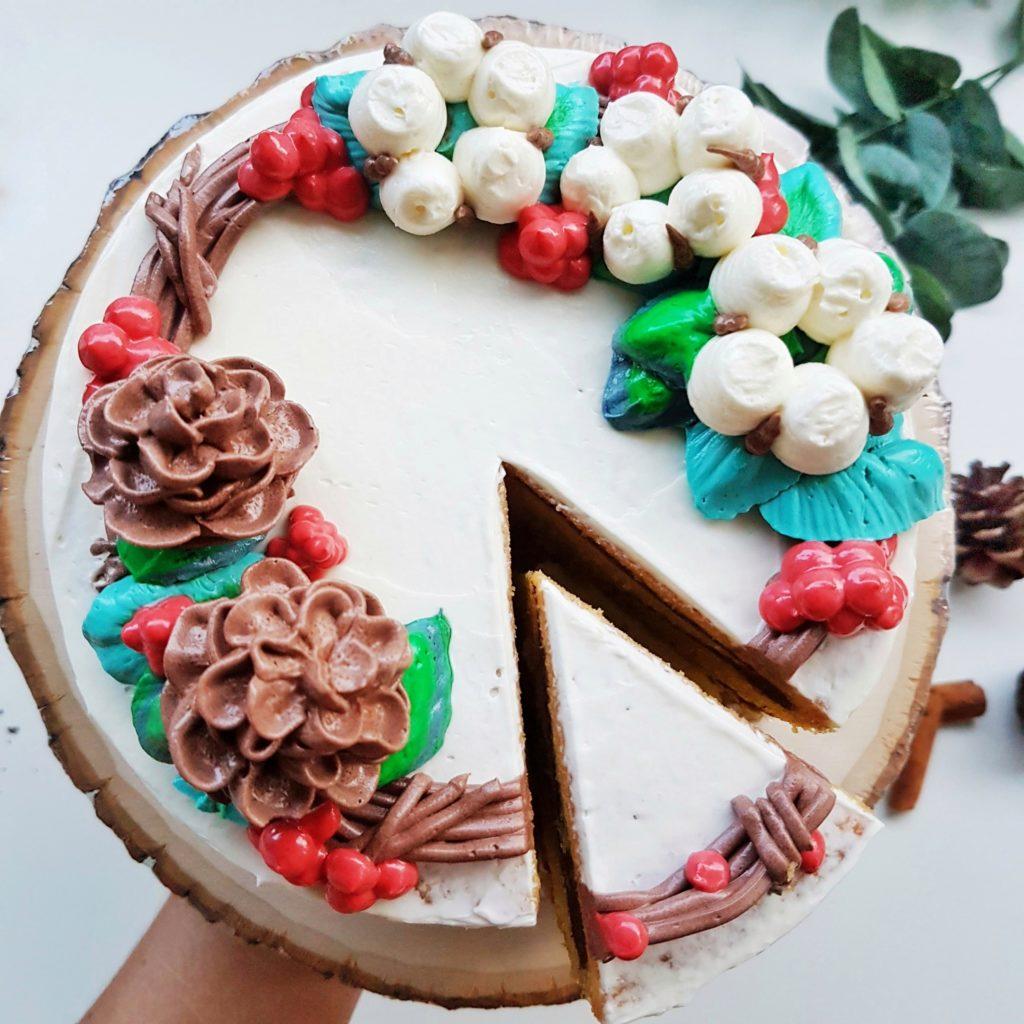 Christmas Wreath Cake